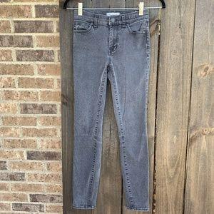 Madewell Women's Black High Riser Skinny Jeans 24